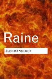 Cover of: Blake and antiquity