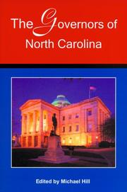 Cover of: The Governors of North Carolina
