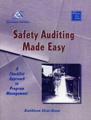 Cover of: Safety Auditing Made Easy