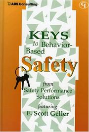 Cover of: Keys to Behavior-Based Safety