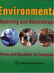 Cover of: Environmental Reporting and Recordkeeping |