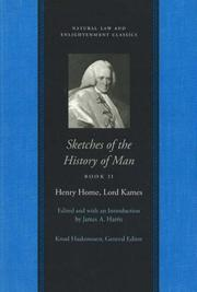 Cover of: Sketches of the History of Man (Natural Law and Enlightenment Classics)