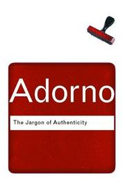 Cover of: The Jargon of Authenticity