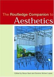 Cover of: The Routledge Companion to Aesthetics