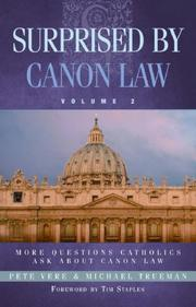 Cover of: Surprised by Canon Law | Pete Vere