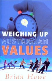 Cover of: Weighing Up Australian Values