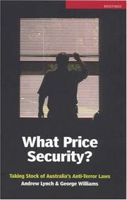 Cover of: What Price Security? | George Williams