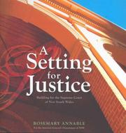 Cover of: A Setting for Justice | Rosemary Annable