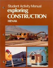 Exploring Construction/Student Activity Manual