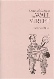 Cover of: Secret of Success in Wall Street | Tumbridge & Co.