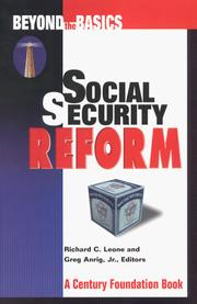 Cover of: Social security reform