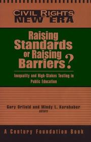 Cover of: Raising Standards or Raising Barriers? |