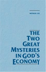 Cover of: The Two Great Mysteries in God