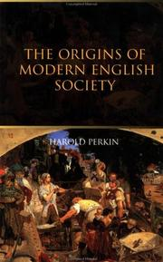 Cover of: The Origins of Modern English Society
