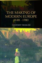 Cover of: The Making of Modern Europe, 1648-1780