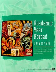 Cover of: Academic Year Abroad 1998-99 | Sara J. Steen