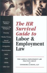 Cover of: The Hr Survival Guide to Labor & Employment Law |