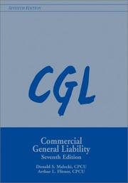 Cover of: Cgl Commercial General Liability