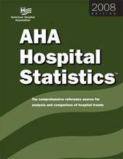Cover of: 2008 AHA Hospital Statistics