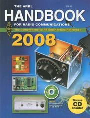 Cover of: The ARRL Handbook for Radio Communications 2008 (ARRL Handbook for Radio Communications) | Mark J. Wilson