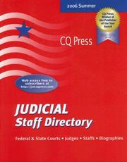 Cover of: Judicial Staff Directory Summer 2006