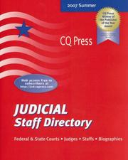 Cover of: Judicial Staff Directory Summer 2007