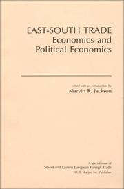 Cover of: East-South Trade Economics and Political Economics