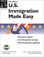 Cover of: U.S. Immigration Made Easy (9th National Edition) | Laurence A. Canter, Martha S. Siegel