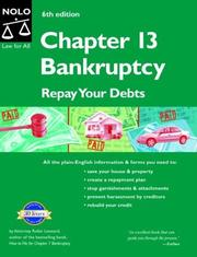 Cover of: Chapter 13 bankruptcy