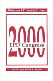 Cover of: Epd Congress 2000