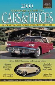 Cover of: 2000 Standard Guide to Cars & Prices (Standard Guide to Cars and Prices, 2000) | Ken Buttolph