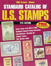 Cover of: Standard Catalog of U.S. Stamps 2001