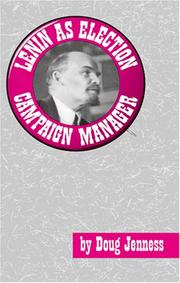 Cover of: Lenin As Election Campaign Manager (Merit)