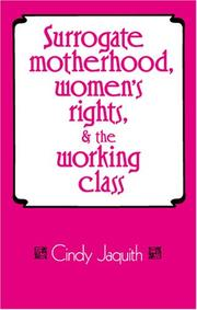 Cover of: Surrogate Motherhood, Women's Rights, and the Working Class