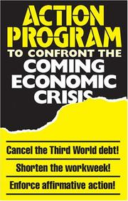 Cover of: An Action Program to Confront the Coming Economic Crisis