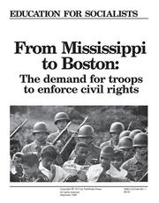 Cover of: From Mississippi to Boston