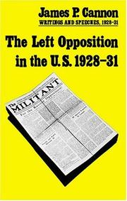 Cover of: The Left Opposition in U.S