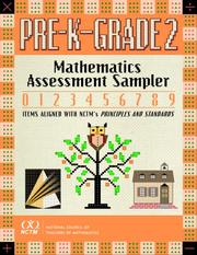 Cover of: Mathematics Assessment Sampler, Prekindergarten-Grade 2