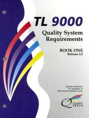 Cover of: Tl 9000 Quality System Requirements