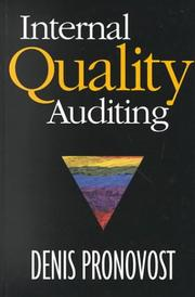 Cover of: Internal Quality Auditing