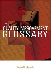 Cover of: The Quality Improvement Glossary