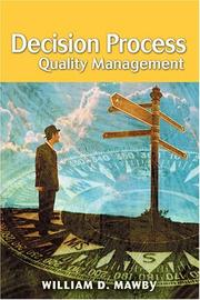 Cover of: Decision Process Quality Management