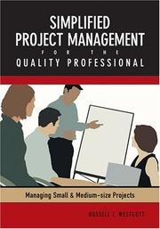 Cover of: Simplified Project Management For The Quality Professional