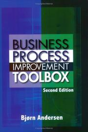 Cover of: Business Process Improvement Toolbox | Bjorn Andersen
