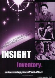 Cover of: Insight Inventory