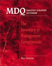 Cover of: MDQ : Management Development Questionnaire