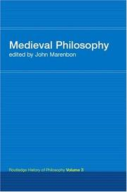Cover of: Medieval Philosophy | John Marenbon
