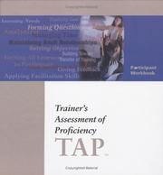 Cover of: Trainer's Assessment of Proficiency Participant Book (TAP)