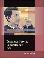 Cover of: Customer Service Commitment Profile