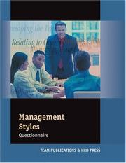 Cover of: Management Styles Questionnaire